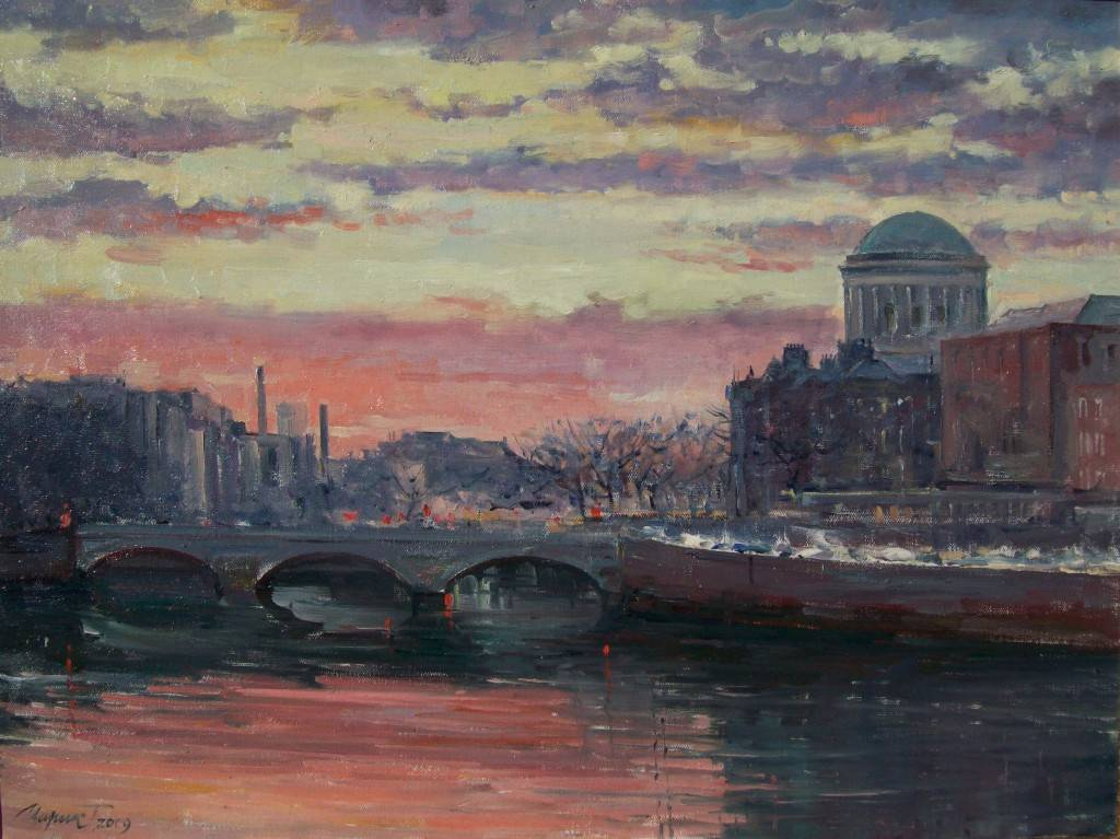 Painting - Evening Dublin (Tetyana Tsaryk)