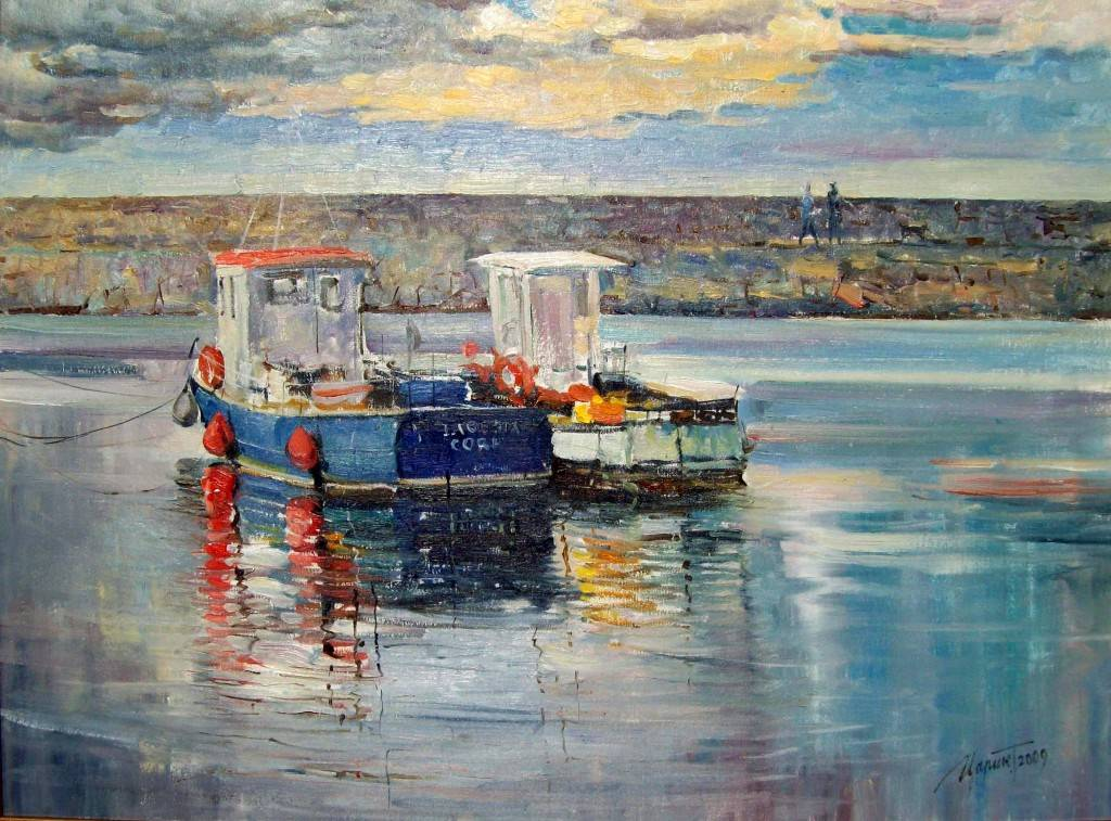 Painting - Harbour (Tetyana Tsaryk)