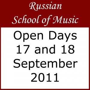 Russian School of Music OPEN DAYS